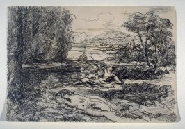 Reclining Figure by a Lake