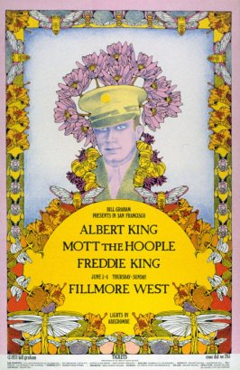 Albert King, Mott the Hoople,  Freddie King, June 3 - 6, Fillmore West