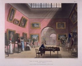 Plate 13: British Institution--Pall Mall, illustration to 'The Microcosm of London'