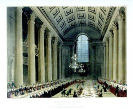 Plate 51: Egyptian Hall, Mansion House, illustration to 'The Microcosm of London'
