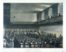 Plate 64: Quakers' Meeting, illustration to 'The Microcosm of London'