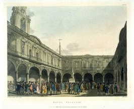 Plate 67: Royal Exchange, illustration to 'The Microcosm of London'