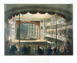 Saddler's Wells Theatre, illustration to 'The Microcosm of London'