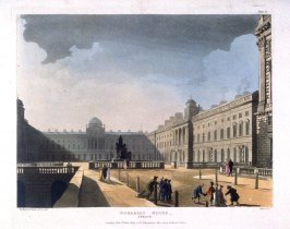 Somerset House, Strand, illustration to 'The Microcosm of London'