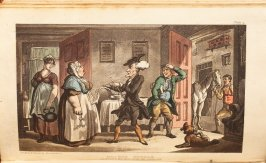Dr. Syntax Disputing His Bill with the Landlady, plate 5 in the book 'The Tour of Dr. Syntax, In Search of the Picturesque', 4th ed. ([London: R. Ackermann, 1813]), vol. 1 (of3)