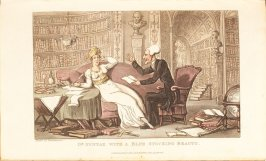 Dr. Syntax with a Blue Stocking Beauty, plate in the book 'The Third Tour of Dr. Syntax, In Search of a Wife' (London:R. Ackermann, [1821]), vol. 3 (of 3)