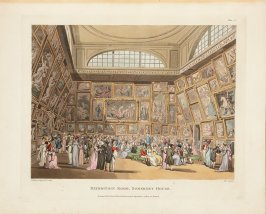 Exhibition Room, Somerset House, plate 2 in the book, Microcosm of London (London: R. Ackermann, [1808]), vol. 1