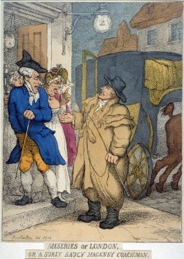 Miseries of London, or a surly saucy hackney coachman