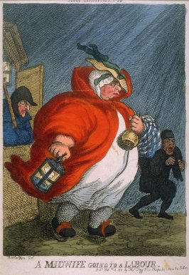 A Midwife Going to a Labour, from the series 'Tegg's Caricatures' No.55
