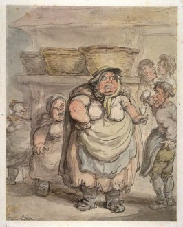 Obese Woman Being Poured a Drink