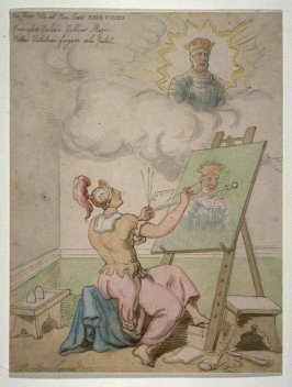 The War Goddess Painting the Portrait of King Francis I of France