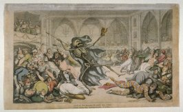 The Masquerade, illustration from 'The English Dance of Death' (London, Ackermann, 1814-1816)