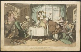 The Glutton, illustration to 'The English Dance of Death' (1814-1816)