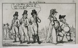 The Art of Quizzing, illustration to 'Chesterfield Travestie or School for Fine Manners' (Tegg, 1808)