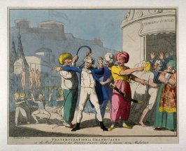 Fraternization in Grand Cairo, or the Mad General & his Bonny-Party likely to become tame Musselmen