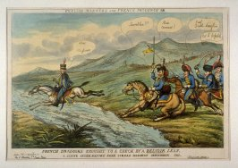 English Manners and French Prudence, or, French Dragoons brought to a check by a Belvoir Leap