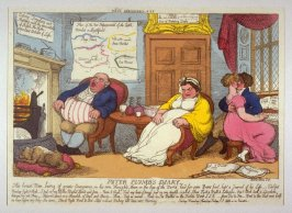 Peter Plumb's Diary, from the series 'Tegg's Caricatures' No.18