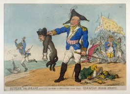Blucher the Brave extracting the Groan of Abdication from the Corsican Blood Hound