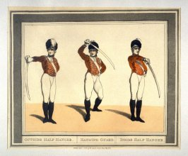 Outside Half Hanger, illustration to Angelo's 'Hungarian and Highland Broadsword Exercise'