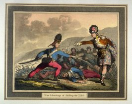 The Advantage of Shifting the Leg, illustration to Angelo's 'Hungarian and Highland Broadsword Exercise'