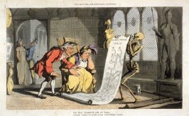 The Geneologist, illustration to 'The English Dance of Death' (London, Ackermann, 1814-1816)