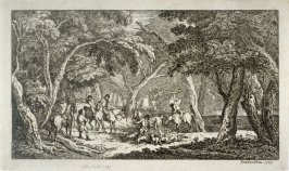 Fox Hunting: A Landscape Scene, from the series 'Imitations of Modern Drawings'