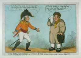 The Resignation, or John Bull over-whelmed with Grief