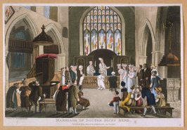 Marriage of Doctor Dicky Bond, from Combe's 'The Second Tour of Dr Syntax in Search of Consolation'