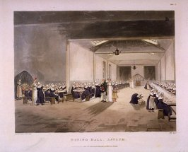 Dining Hall, Asylum, illustration to 'The Microcosm of London'