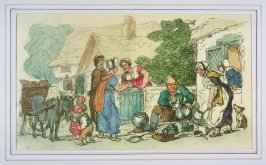 The Itenerant Tinker and Gossiping Neighbors, illustration to 'The World in Miniature'