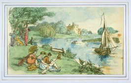 Picnickers on the River Bank, illustration to 'The World in Miniature'