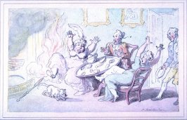 Tea Party Interrupted by Fire