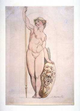 Nude Figure of Athena in a Niche