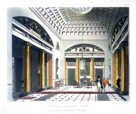 Plate 15: The Hall--Carleton House, illustration to 'The Microcosm of London'