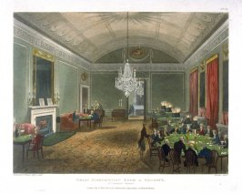 Plate 39: Great Subscription Room at Brooks: St. James' Street, illustration to 'The Microcosm of London'