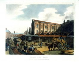 Plate 50: Leaden Hall Market, illustration to 'The Microcosm of London'