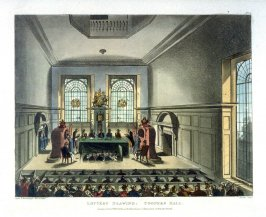 Plate 53: Lottery Drawing, Cooper's Hall, illustration to 'The Microcosm of London'