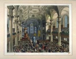 Plate 79: St. Martin's-in-the-Field, illustration to 'The Microcosm of London'