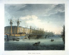 Plate 92: West India Docks, illustration to 'The Microcosm of London'