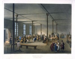 Plate 96: Workhouse, St. James Parish, illustration to 'The Microcosm of London'