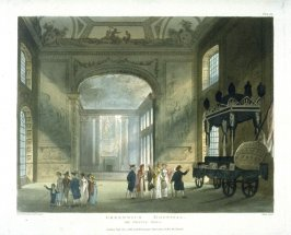 Plate 97: Greenwich Hospital. The Painted Hall, illustration to 'The Microcosm of London'