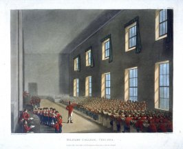 Plate 99: Military College, Chelsea, illustration to 'The Microcosm of London'