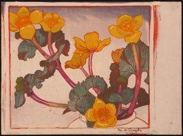 Untitled (Yellow Flowers with Red Stems)