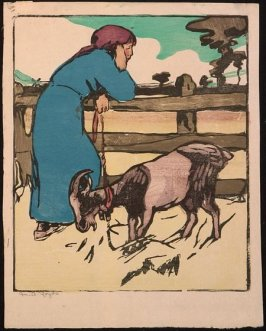 Untitled (Young Woman with Goat)