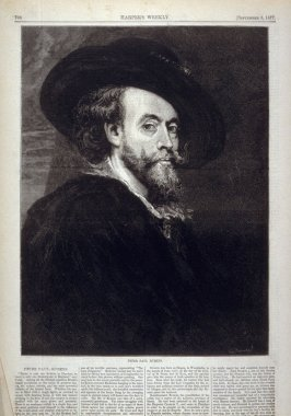 Peter Paul Rubens - from Harper's Weekly, (September 8, 1877), p. 708