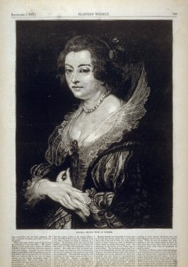 Helena, Second Wife of Rubens - from Harper's Weekly,  (September 8, 1877), p. 709