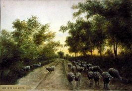 Untitled (Landscape with Sheep)