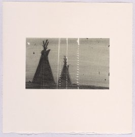 Unassigned proof for Teepees, from the suite Cameo Cuts