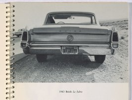 1963 Buick Le Sabre, in the book Royal Road Test by Edward Ruscha in collaboration with Mason Williams and Patrick Blackwell (Los Angeles: self published, 1967 [third ed. 1971])