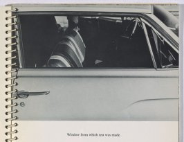 """Window from which test was made,"" in the book Royal Road Test by Edward Ruscha in collaboration with Mason Williams and Patrick Blackwell (Los Angeles: self published, 1967 [third ed. 1971])"
